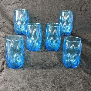 Vintage darling blue juice glasses